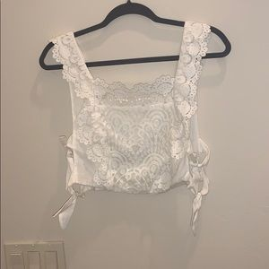 Lace top with tied sides